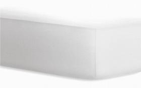 Boxspringspannbetttuch Jersey - Elasthan in weiß, 140 x 200 cm