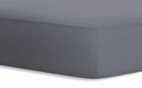 Boxspringspannbetttuch Jersey - Elasthan in graphit, 140 x 200 x 40 cm