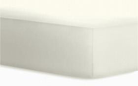 Boxspringspannbetttuch Jersey - Elasthan in wollweiß, 140 x 200 x 40 cm