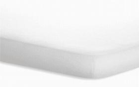 Topperspannbetttuch JERSEY ELASTHAN in weiß, 180 x 200 cm