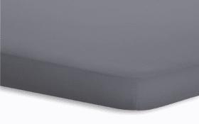Topperspannbetttuch Jersey-Elasthan in graphit, 180 x 200 x 5 cm