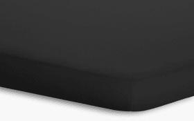 Topperspannbetttuch Jersey-Elasthan in schwarz, 180 x 200 x 5 cm
