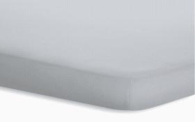 Topperspannbetttuch Jersey-Elasthan in platin, 180 x 200 x 5 cm