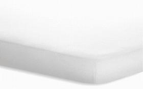 Topperspannbetttuch JERSEY ELASTHAN in weiß, 140 x 200 cm