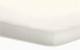 Topperspannbetttuch Jersey-Elasthan in wollweiß, 140 x 200 x 5 cm
