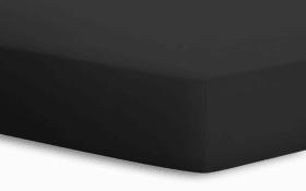 Spannbetttuch BASIC in schwarz, 140 x 200 x 25 cm