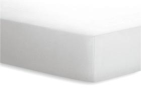 Spannbetttuch  JERSEY-ELASTHAN in weiß, 180 x 200 cm