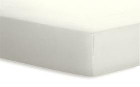 Spannbetttuch Jersey-Elasthan in wollweiß, 180 x 200 x 25 cm