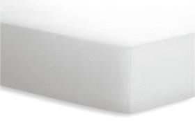 Spannbetttuch JERSEY-ELASTHAN in weiß, 140 x 200 cm