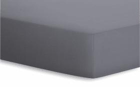 Spannbetttuch Jersey-Elasthan in graphit, 140 x 200 x 25 cm
