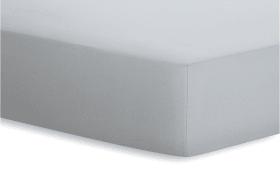Spannbetttuch Jersey-Elasthan in platin, 140 x 200 x 25 cm