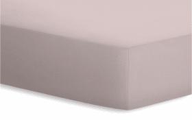 Spannbetttuch Jersey-Elasthan in kiesel, 140 x 200 x 25 cm
