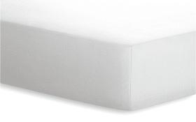 Spannbetttuch JERSEY-ELASTHAN in weiß, 120 x 200 cm