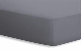 Spannbetttuch Jersey-Elasthan in graphit, 120 x 200 x 25 cm