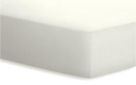 Spannbetttuch Jersey-Elasthan in wollweiß, 120 x 200 x 25 cm