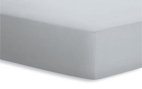 Spannbetttuch Jersey-Elasthan in platin, 120 x 200 x 25 cm