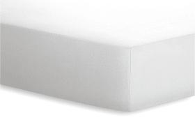 Spannbetttuch  JERSEY-ELASTHAN in weiß, 90 x 190 cm