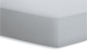 Spannbetttuch Jersey-Elasthan in platin, 90 x 190 x 25 cm