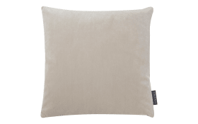 Kissenhülle Samt uni in beige, 40 x 40 cm