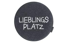 Stuhlkissen Avaro in anthrazit: Lieblingsplatz, 35 cm
