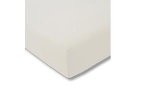 Spannbettlaken Fein Jersey in elfenbein, 150 x 200 cm