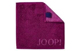 Seifenlappen Joop! Classic Doubleface in cassis, 30 x 30 cm