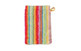 Waschhandschuh Lifestyle Streifen in multicolor hell, 16 x 22 cm