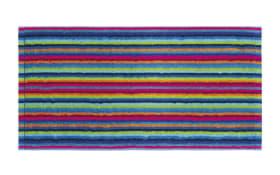 Saunatuch Lifestyle Streifen in multicolor dunkel, 70 x 180 cm
