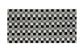Handtuch Lifestyle Karo in kiesel, 50 x 100 cm