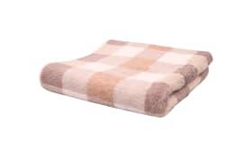 Handtuch Karo in beige, 50 x 100 cm