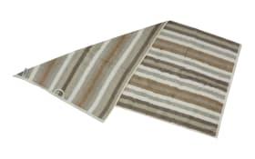 Duschtuch Streifen in beige, 70 x 140 cm