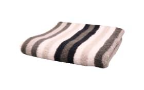 Duschtuch Streifen in schwarz/weiss/grau, 70 x 140 cm
