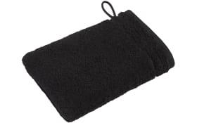 Waschhandschuh Calypso Feeling in schwarz, 16 x 22 cm