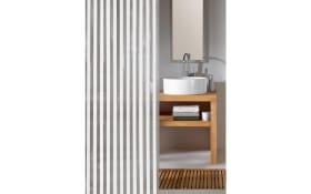 Duschvorhang Noa in weiß, 180 x 200 cm