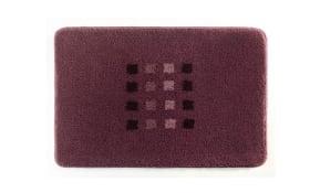 Badteppich Quadri in rouge, 60 x 90 cm