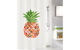 Duschvorhang Pineapple in multicolor, 180 x 200 cm