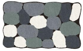 Badteppich Stone in schwarz, 55 x 65 cm
