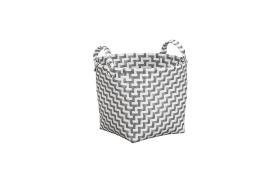 Wäschebox Double Laundry in platin, 30 cm
