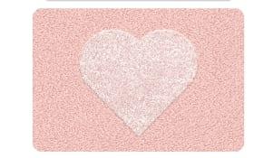 Badteppich Heart in nelke, 60 x 90 cm