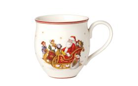 Becher mit Henkel Santa Schlittenfahrt