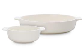 Auflaufformen-Set Clever Cooking in weiß, 2-teilig