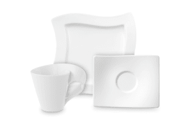 Kaffeeservice New Wave in weiß, 12-teilig