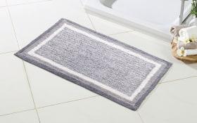 Badezimmer-Wendeteppich in silbergrau