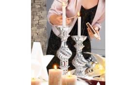 Kerzenleuchter in silberfarbig 29 cm hoch