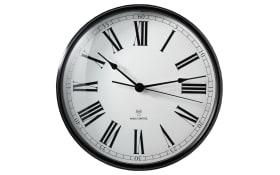 Funk-Wanduhr in schwarz/weiß, 29 cm