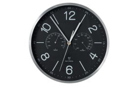Funk-Wanduhr in schwarz, 30 cm