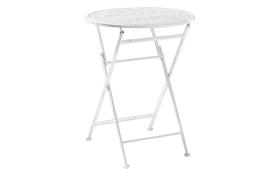 Gartentisch aus Eisen in weiß