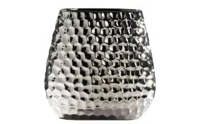 Vase in silber oval, 23 cm
