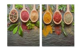 Herdabdeck-/Schneideplatten Spices XL 2er-Set, 40 x 52 cm