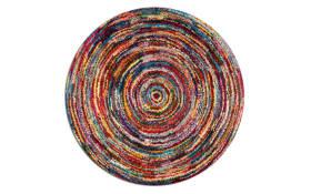 Webteppich Sixteen Round in bunt, 120 cm